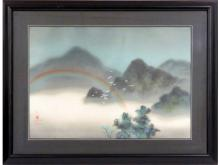 DAVID LEE (CHINA 1944-) COLORED LITHOGRAPH, ISLAND RAINBOW, SIGNED AND SEALED #134/300. SHEET 20 3/4 X 29
