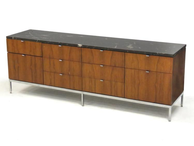 Rosewood and custom order black marble credenza knoll assoc for Knoll and associates