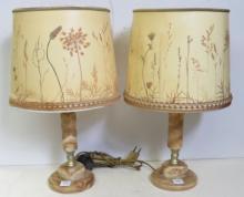 PAIR ART DECO ONYX TABLE LAMPS, ZIMMERMAN LEUCHTEN. HEIGHT 10 1/2