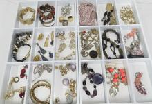 (2) TRAY LOTS ASSORTED COSTUME JEWELRY INCLUDING ANN TAYLOR