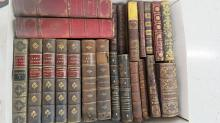 LOT ASSORTED 19TH CENTURY LEATHER VOLUMES AND OTHERS