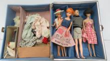 BARBIE VINYL SUITCASE WITH MIDGE, 1962; BARBIE, 1966; PRINCESS GRACE, 1968; SKIPPER/BARBIE CLOTHES, ETC.