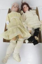 LOT (2) ANTIQUE GERMAN DOLLS INCLUDING SIMON AND HALBERG, #550 AND GERMAN DEP 6 1/2 (IMPERFECTIONS)