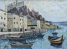 CHARLES LEVIER (1920-2003), OIL ON CANVAS, PORT AU SOIR, SLL. 30 X 40
