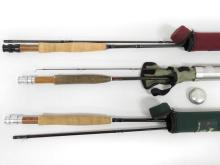 LOT (3) ASSORTED GRAPHITE FLY RODS INCLUDING 9' CABELA'S; 8'6