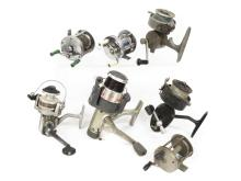 LOT (7) ASSORTED SPINNING AND BAIT CASTING REELS
