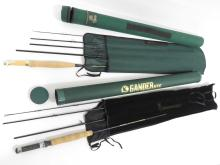 LOT (2) INCLUDING BROWNING 4 SECTION BACK PACKER 8' GRAPHITE FLY ROD WITH HARD CASE AND CABELA'S 4 SECTION STOWAWAY BACK PACKER 9' GRAPHITE FLY ROD WITH HARD CASE