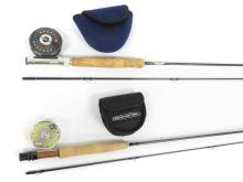 LOT (2) GRAPHITE FLY RODS/REELS INCLUDING 6' CUSTOM GX AND 7'6 FENWICK