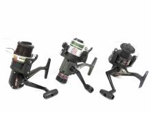 LOT (3) SPINNING REELS INCLUDING DIAWA LONGCAST AG1600, SHIMANO F400 AND DIAWA A 1355 T ACCU-SET CASTING