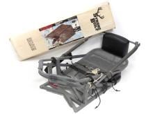LOT (2) INCLUDING FOLDING ALUMINUM TREE STAND WITH STRONG BUILT CAMO CANOPY