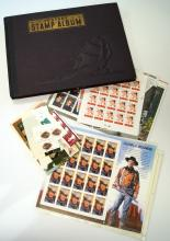 LOT ASSORTED US AND FOREIGN STAMPS/ALBUM INCLUDING $50.00+ FACE VALUE