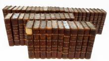 LARGE SET WAVERLY NOVELS, 1830 QUARTER LEATHER