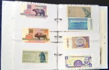 LOT (2) ALBUMS APPROXIMATELY (257) ASSORTED FOREIGN CURRENCY