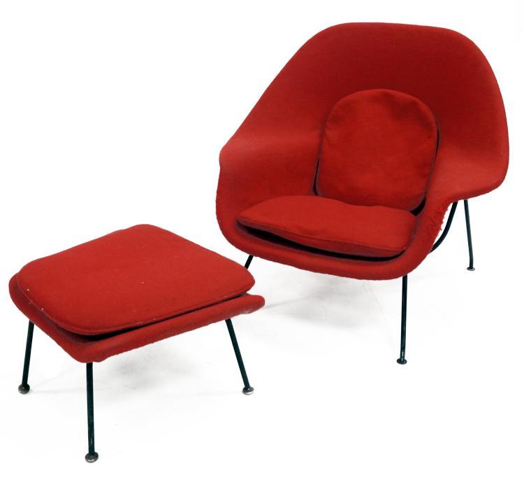 lot 49 eero saarinen design womb chair and ottoman