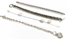 LOT (4) 925 STERLING CHAIN BRACELETS INCLUDING TIFFANY & CO. TWT 2.47 OZT