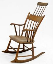 WINDSOR COMB-BACK ARM CHAIR ROCKER, 19TH CENTURY