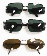 LOT (3) PAIR GIORGIO ARMANI SUNGLASSES INCLUDING (2) #1528 706 58[] 16 130 AND (1) #1508 1145/73 130 WITH CASES (1/WITH ORIGINAL PRICE TAG)