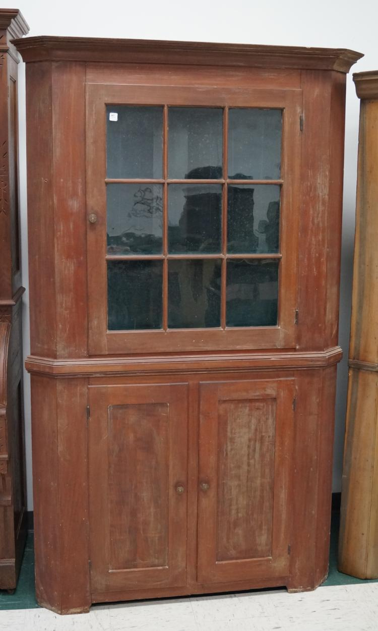 Country fruit wood corner cabinet 18 19th century height 7 for The country corner