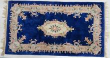 CHINESE AUBUSSON-STYLE RUG. 4' X 7'2
