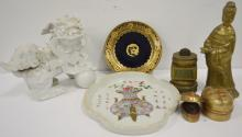 LOT ASSORTED CHINESE AND JAPANESE CERAMICS AND BRONZES