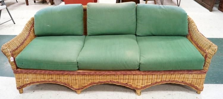 wicker sofa length 84