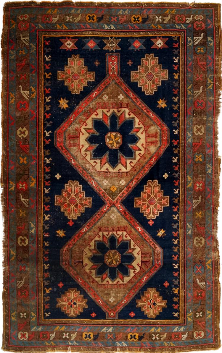 ANTIQUE CENTRAL PERSIAN RUG. 4'8