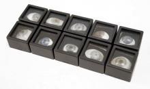 LOT (10) OPTOMETRIST'S PROSTHETIC GLASS EYE SAMPLES