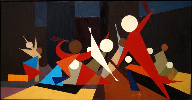 AMERICAN SCHOOL (20TH CENTURY), OIL ON MASONITE,