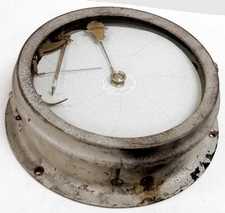 FOXBORO CO. AIR PRESSURE RECORDING DEVICE. DIAMETER 12