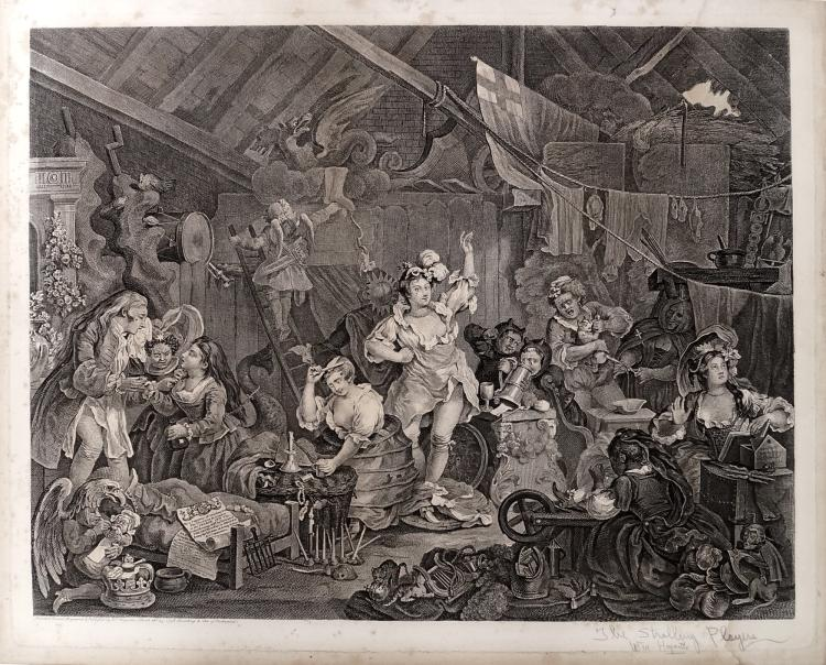 WILLIAM HOGARTH (BRITISH 1697-1764), COPPER ENGRAVING,