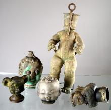 LOT (5) RUBBER DOLL MOLDS, EARLY 20TH CENTURY