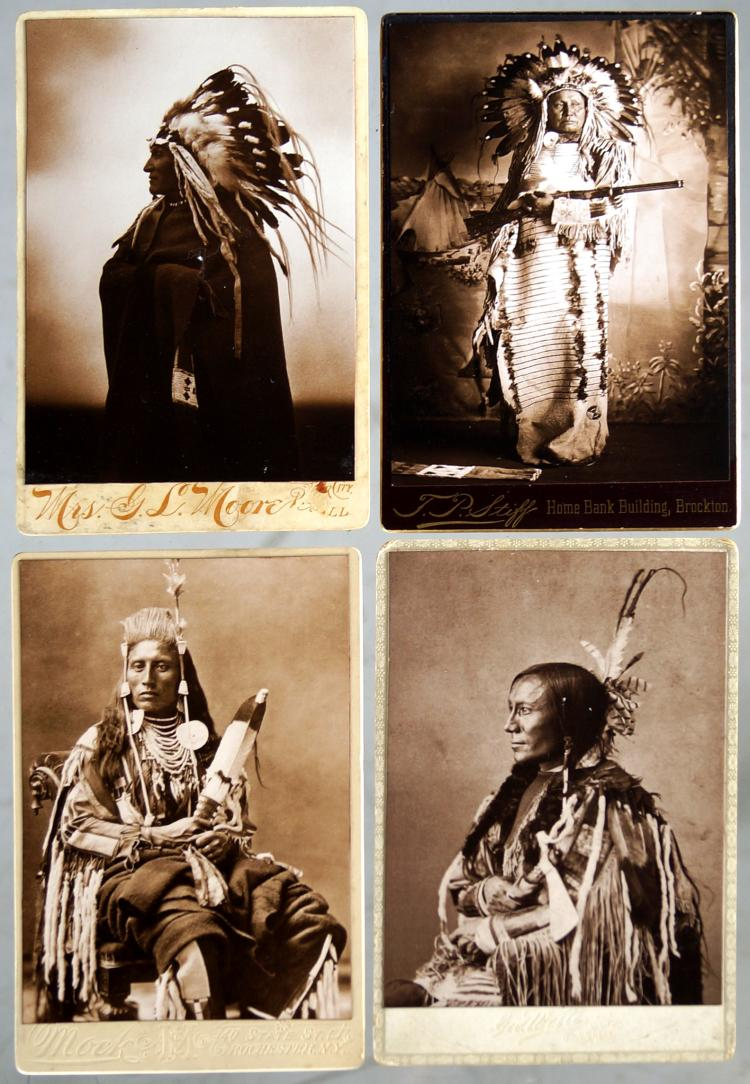 LOT (4) VINTAGE AMERICAN INDIAN BUSINESS CARDS