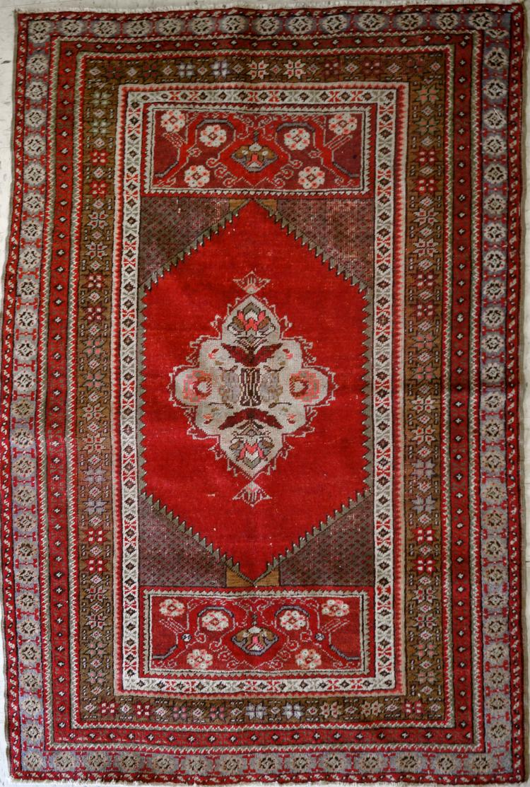 SEMI-ANTIQUE TURKISH RUG. 3'5