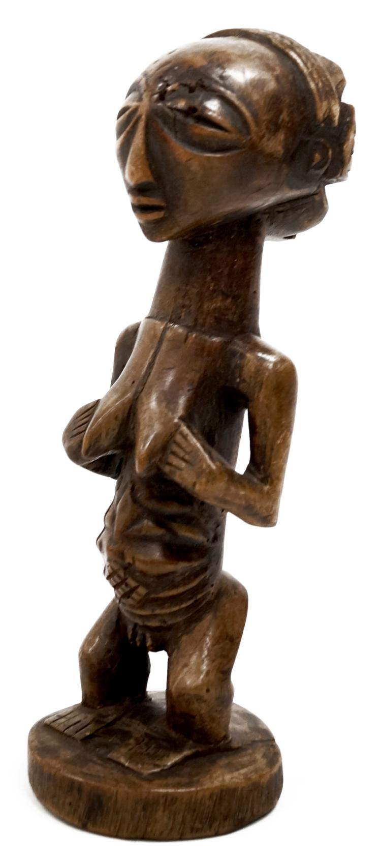 VINTAGE LUBA, CONGO, FERTILITY FIGURE. HEIGHT 12 1/2