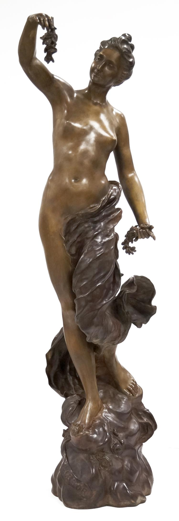 HENRI FUGERE (FRENCH 1872-1944), BRONZE,