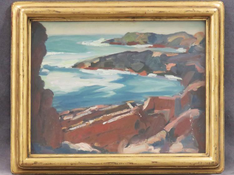 HARRIETTE M. LANDON (AMERICAN 1896-1997), OIL ON CANVAS BOARD,
