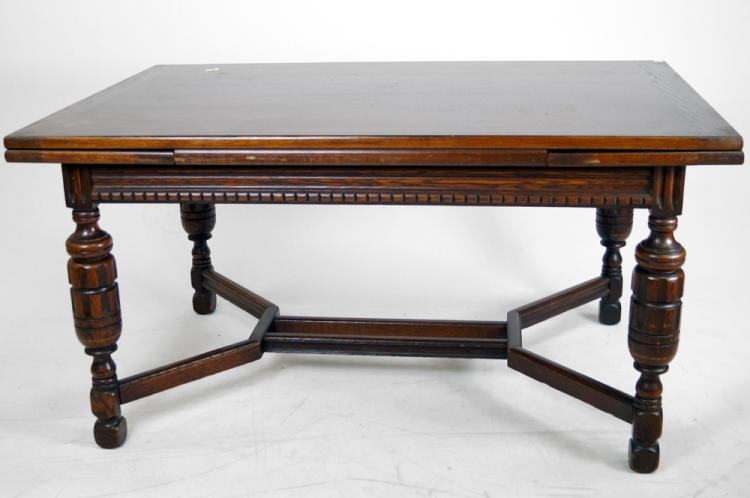ELIZABETHAN STYLE CARVED OAK DRAW TOP DINING TABLE HEIGHT 3 : H0052 L98154559 from www.invaluable.co.uk size 750 x 498 jpeg 35kB