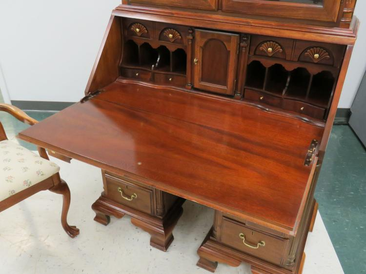 Lot 2 Including American Drew Chippendale Style Carved Mahogany