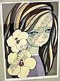 Handcolored Woodblock, Shuzo Ikeda, Click for value