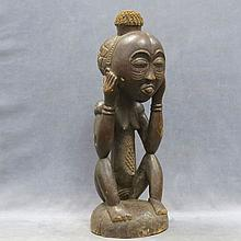 VINTAGE NAMDJE (CAMEROON) CARVED WOOD FIGURE