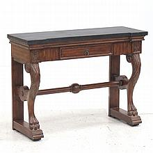 REGENCY STYLE CONSOLE WITH MARBLE TOP