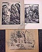 LOT (3) PEPPINO MANGRAVITE (AMERICAN 1898-1978) INCLUDING IN