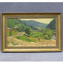 DMITRI ARKADIEVICH NALBANDIAN, OIL ON CARD