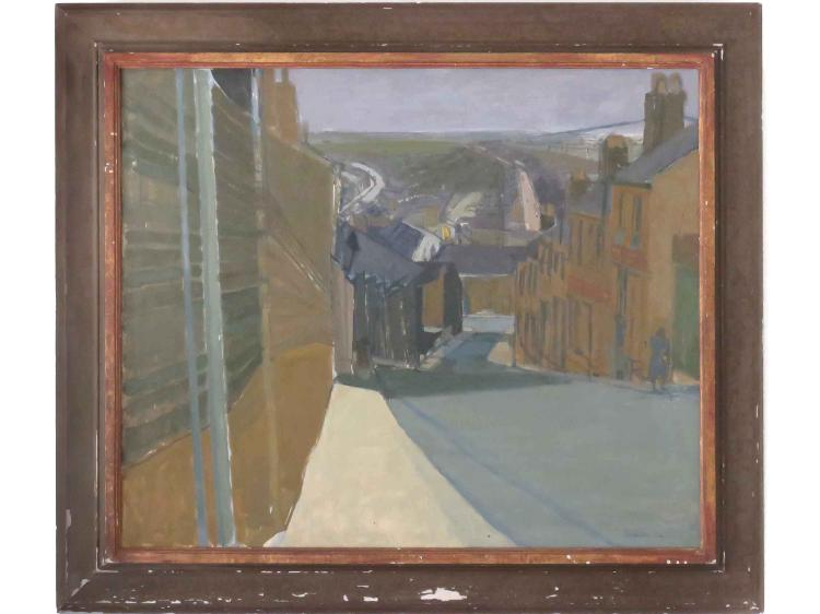 IAN SAMPSON (BRITISH 20TH CENTURY), OIL ON MASONITE,