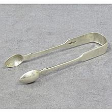 LONDON STERLING SUGAR TONGS, 1851