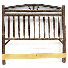 OLD HICKORY WAGON WHEEL HEADBOARD, SIGNED