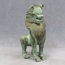 S.E. ASIAN BRONZE LION.