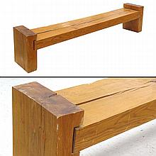 CRAFTSMAN OAK TIMBER BENCH