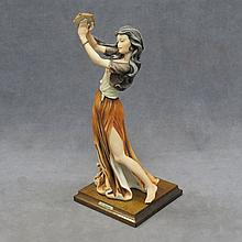 G. ARMANI FIGURE, GYPSY ON WOODEN BASE