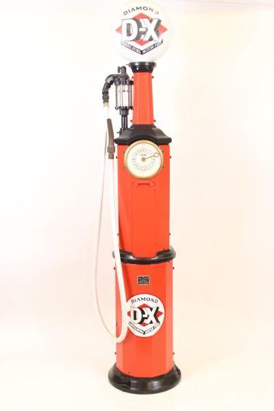 Restored National Simplex DX Clock Face Gas Pump